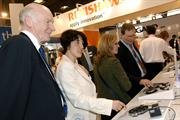 Teachers viewing Renishaw's latest measurement technologies at the MACH 2008 exhibition