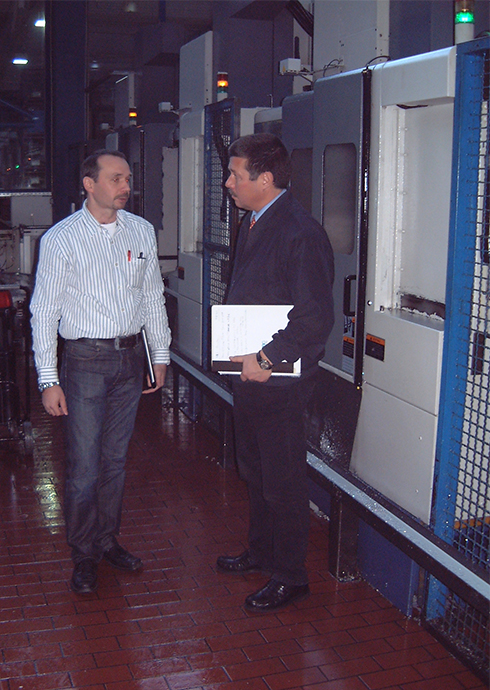 Markus Forster, works manager of ZBG, and Michael Vogt, Renishaw Gmbh