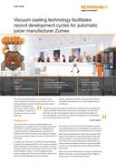 Case study:  Vacuum casting technology facilitates record development cycles for automatic juicer manufacturer Zumex