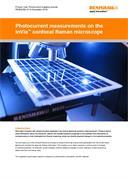 Application note:  Photocurrent measurements on the inVia™ confocal Raman microscope