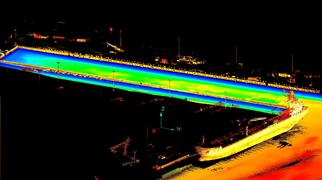 Sonar and LiDAR data gathered from a harbour scan in Miami